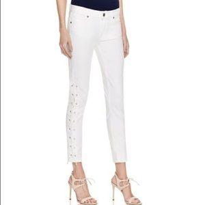 Paige Jeans Verdugo Ankle Lace Up Ivory Castle 27